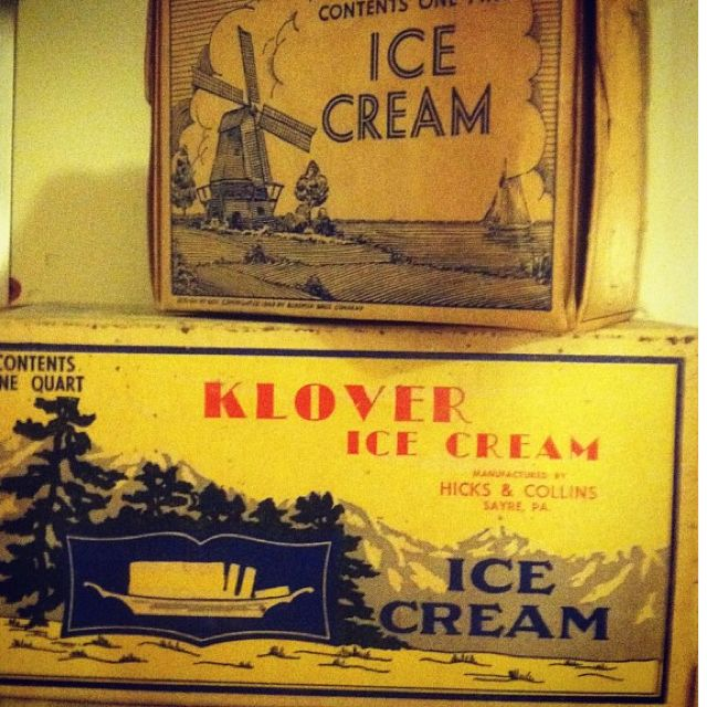Vintage 1930's Ice Cream Containers / Boxes Antique