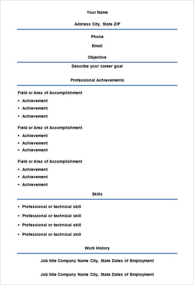 Empty Resume Format Firusersd7