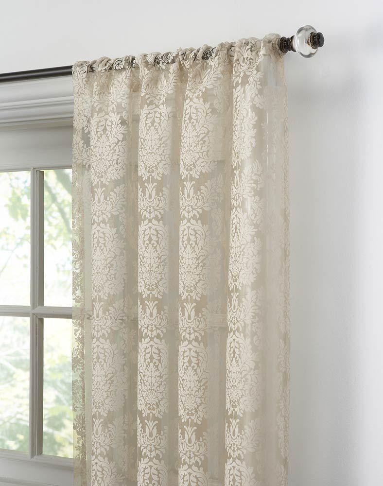 Traditional Damask Lace Curtain Panel / Curtainworks.com. **$10.49 Per Panel !