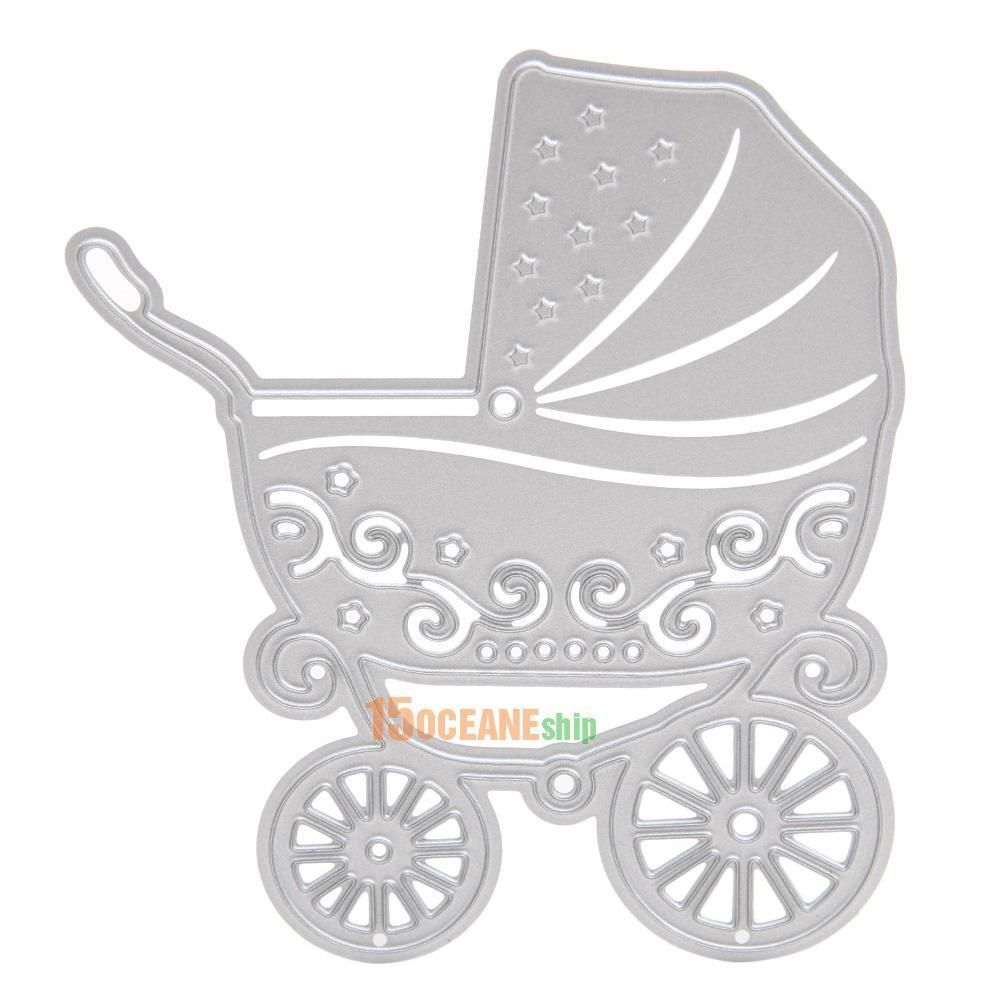 Scrapbook paper cart - Details About Metal Baby Carriage Cutting Dies Stencil For Diy Scrapbooking Paper Cart Decor