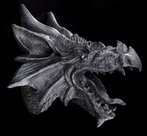 The Dragons Fury Dragon Head Wall Mount Figurine Co Uk Kitchen Home