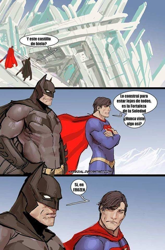 Meme Espanol Batman And Superman Funny Comics Comic Books