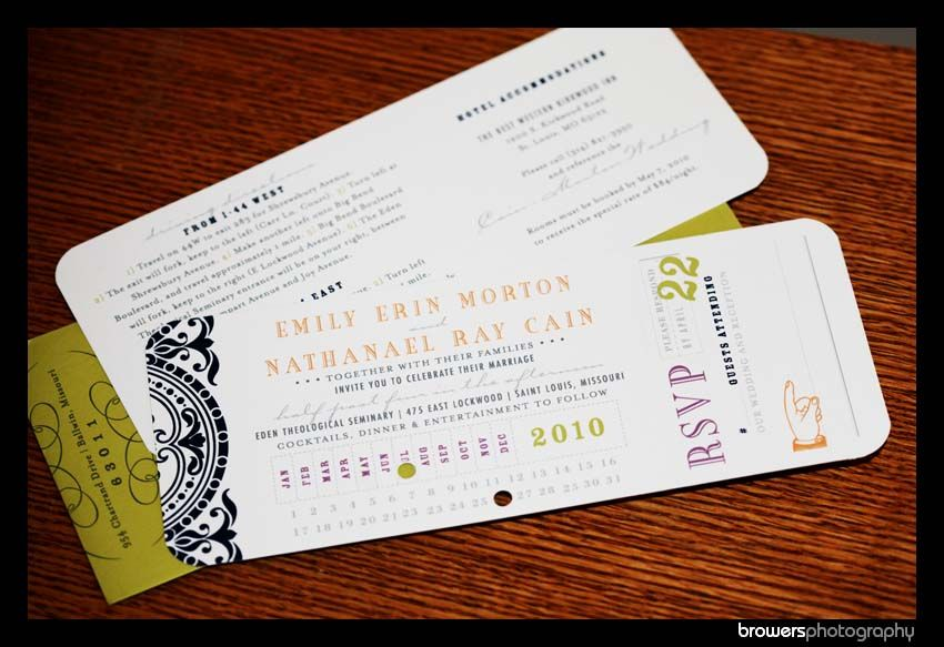 When Do I Send Out Wedding Invites: I Love The Idea Of Sending Out Theatre Ticket Invitations