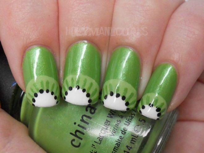 Holy Manicures: Kiwi Nails.   unhas   Pinterest