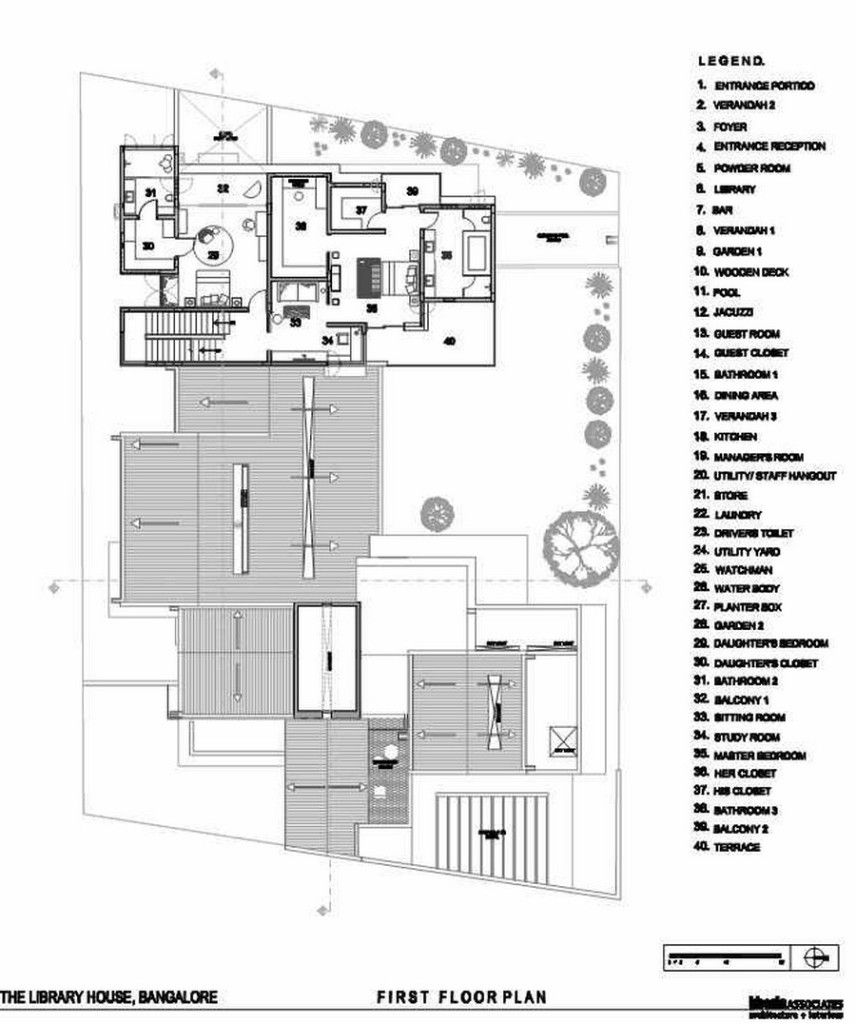 Architecture First Floor Plan House Interior Idea Design Scheme