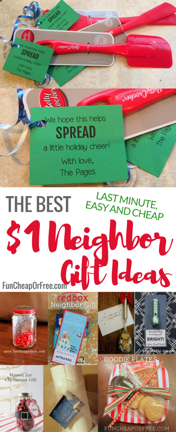 30 Cheap, Easy and Last-Minute Neighbor Gift Ideas - Fun Cheap or Free