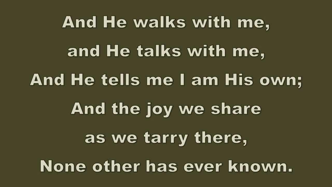 In the Garden - Hymn - Karaoke | Grieving Resources, Memorial ...