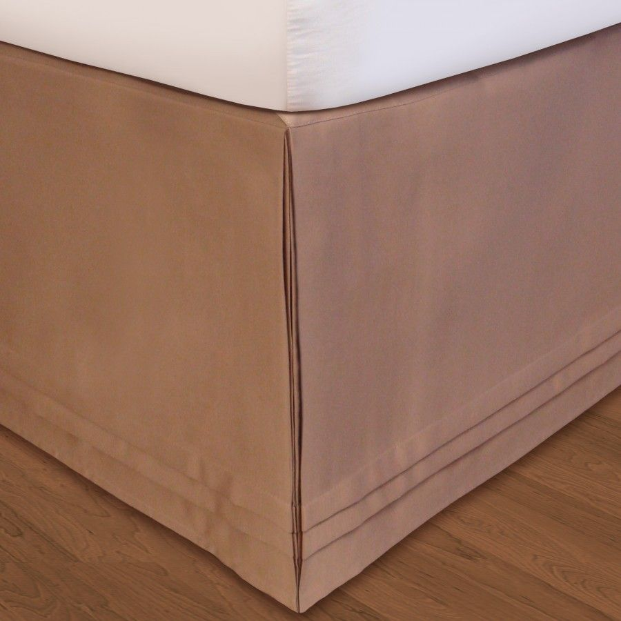 Veratex Quot Hike Up Your Skirt Quot Matte Satin Bedskirt In Taupe