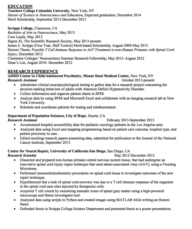 sample research scientist resume httpexampleresumecvorgsample research