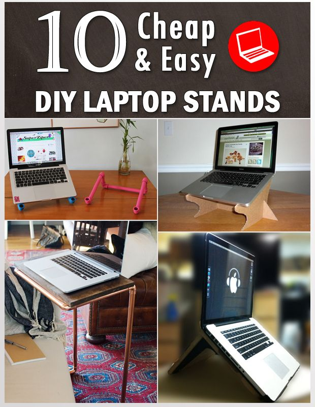 We Will Tell You How Can Make Diffe Types Of Laptop Stands With Things That May Have At Your Home Or Office