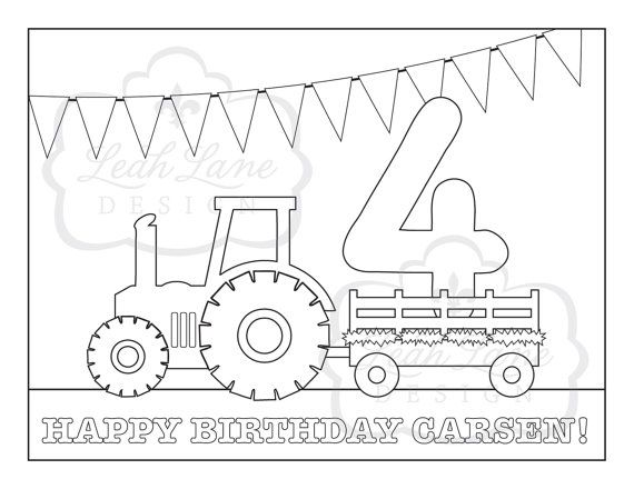 Tractor Hayride Birthday Party Printable by LeahLaneDesign ...