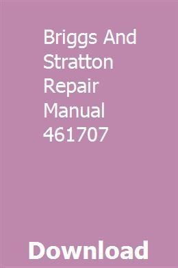 Briggs and Stratton Engine | 461707-0143-E1 ...