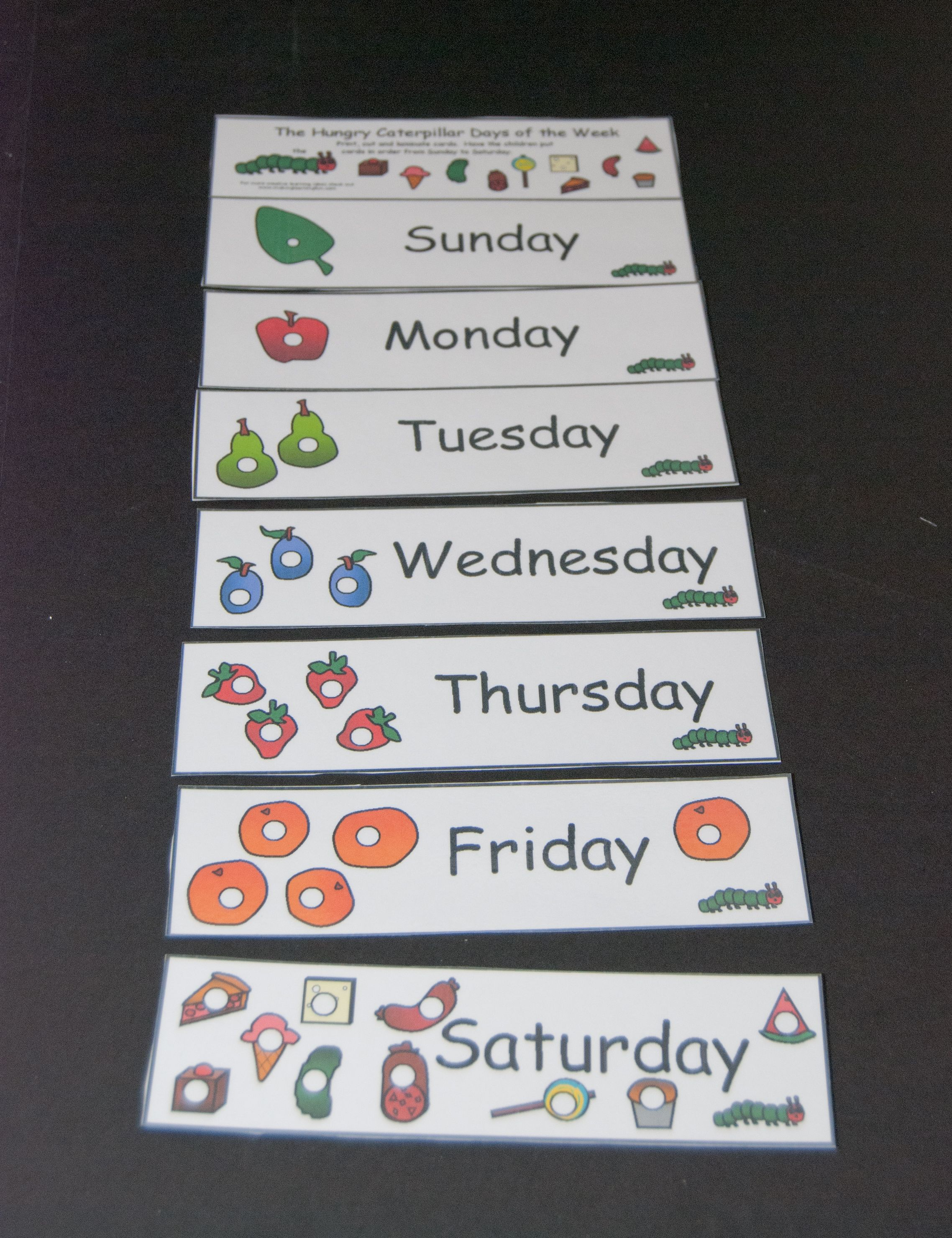 Hungry Caterpillar Days Of The Week 1