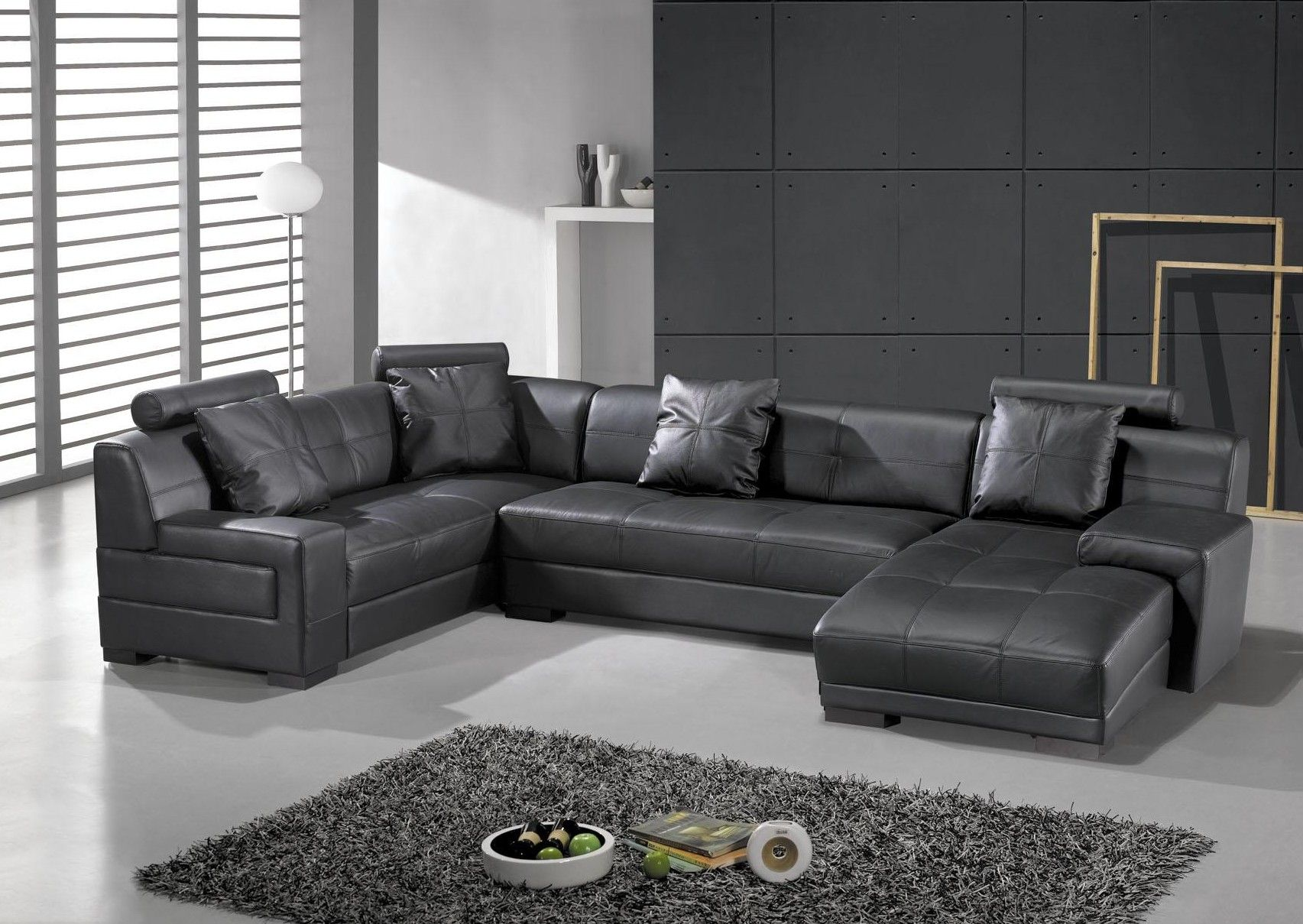 Hokku Designs Houston Leather Sectional | AllModern | For ...