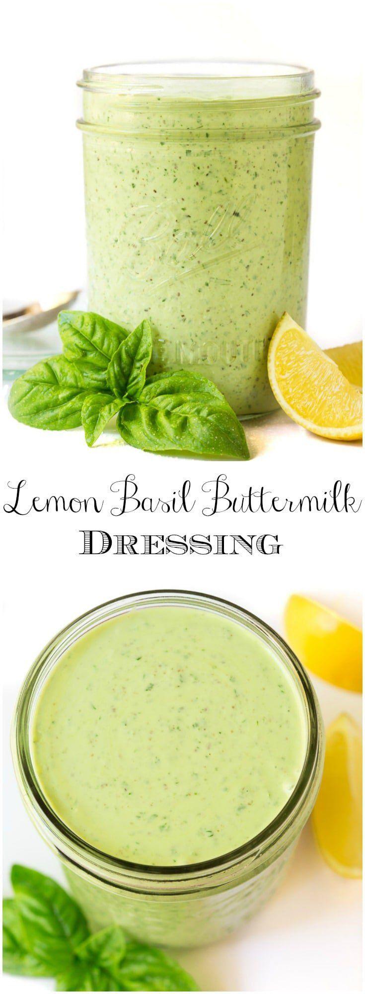 Lemon Basil Buttermilk Dressing Recipe Dressing For Fruit Salad Buttermilk Dressing Lemon Basil