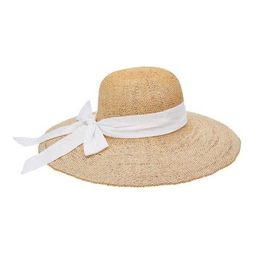65e031a8 Women's San Diego Hat Company Woven Paper Floppy Hat with Scarf Bow Trim  PBL3096 Hats