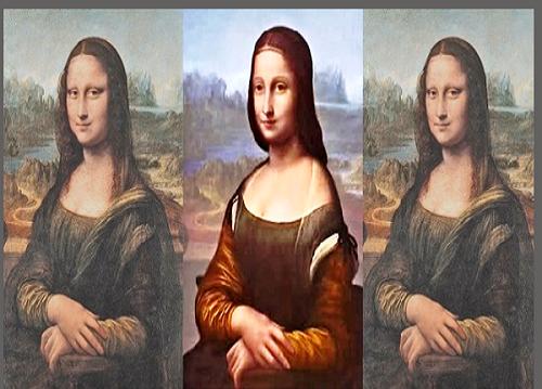 اكتشاف صورة الموناليزا الأصلية اسفل الرسم المعروف للعالم احلى عالم Art Parody Mona Mad Hatter
