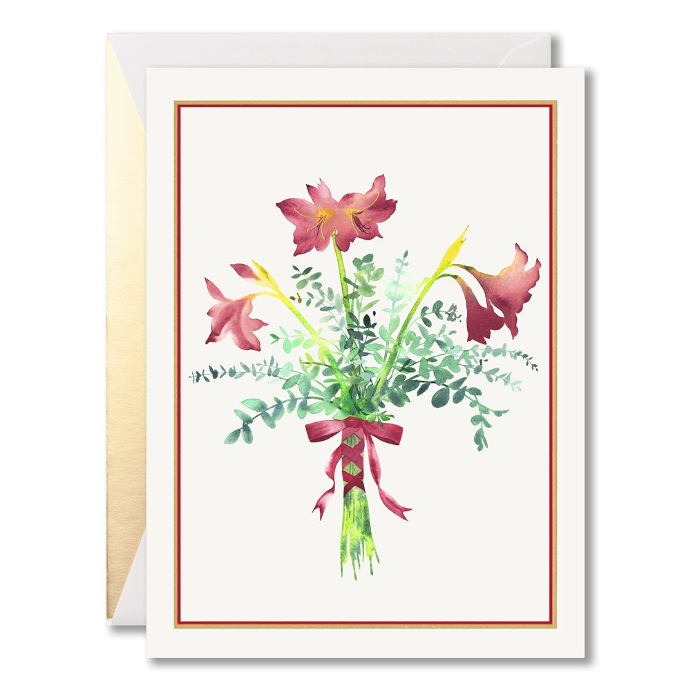 Gift of amaryllis boxed holiday greeting cards deck the halls with gift of amaryllis boxed holiday greeting cards deck the halls with boughs of holly m4hsunfo