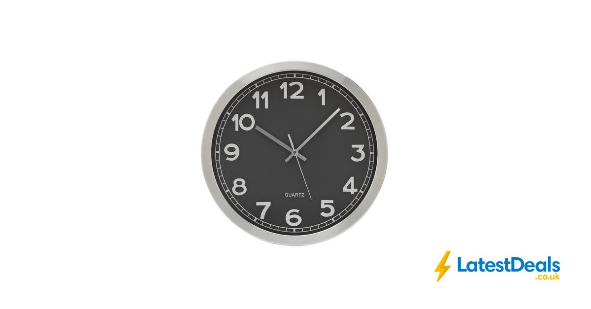 Hygena Rocco Radio Controlled Metal Wall Clock 1399 At Argos