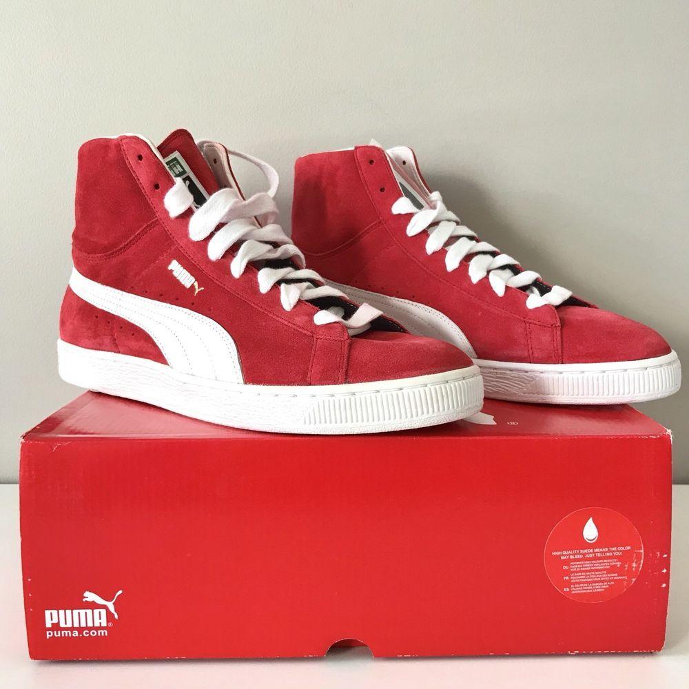 Puma NEW Suede mid classic men fashion sneaker 10 team regal ...