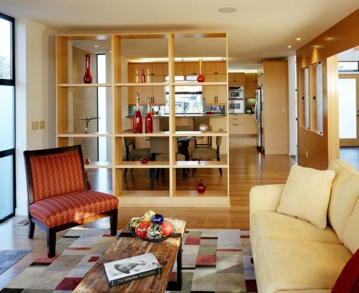 raumtrenner ideen raumteiler vorhang raumteiler regal weisse deko ... - Raumteiler Ideen
