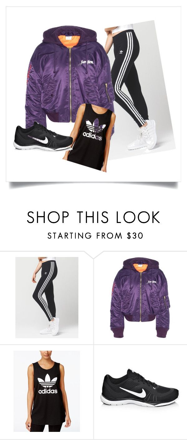 """""""sporty spice"""" by elinedc-1 on Polyvore featuring mode, adidas, Vetements et NIKE"""