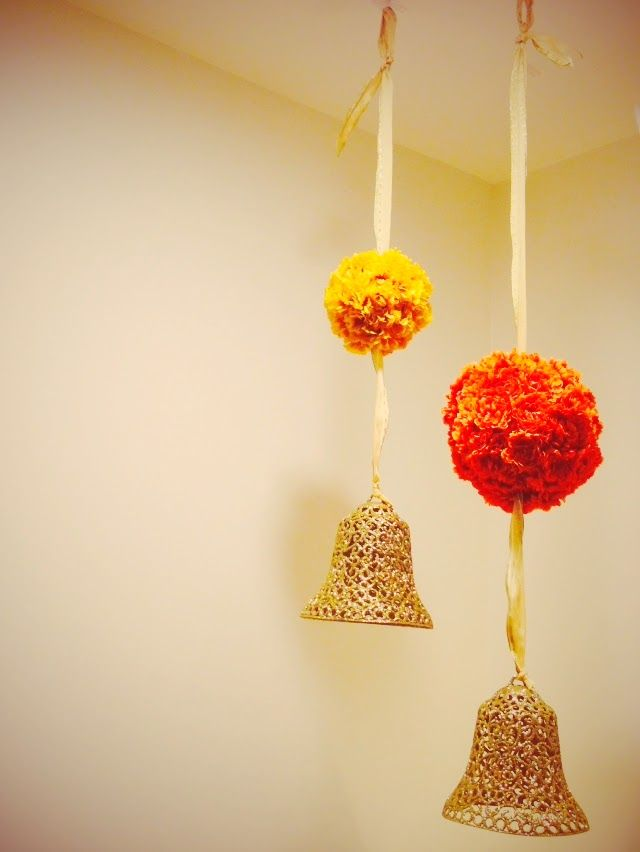 Diwali decorations at home in us.