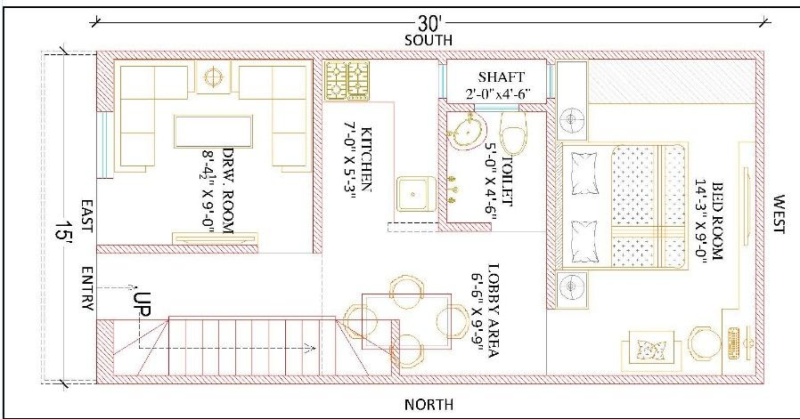 15 Feet By 30 Feet Beautiful Home Plan Everyone Will Like Acha Homes House Layout Plans House Map Home Map Design