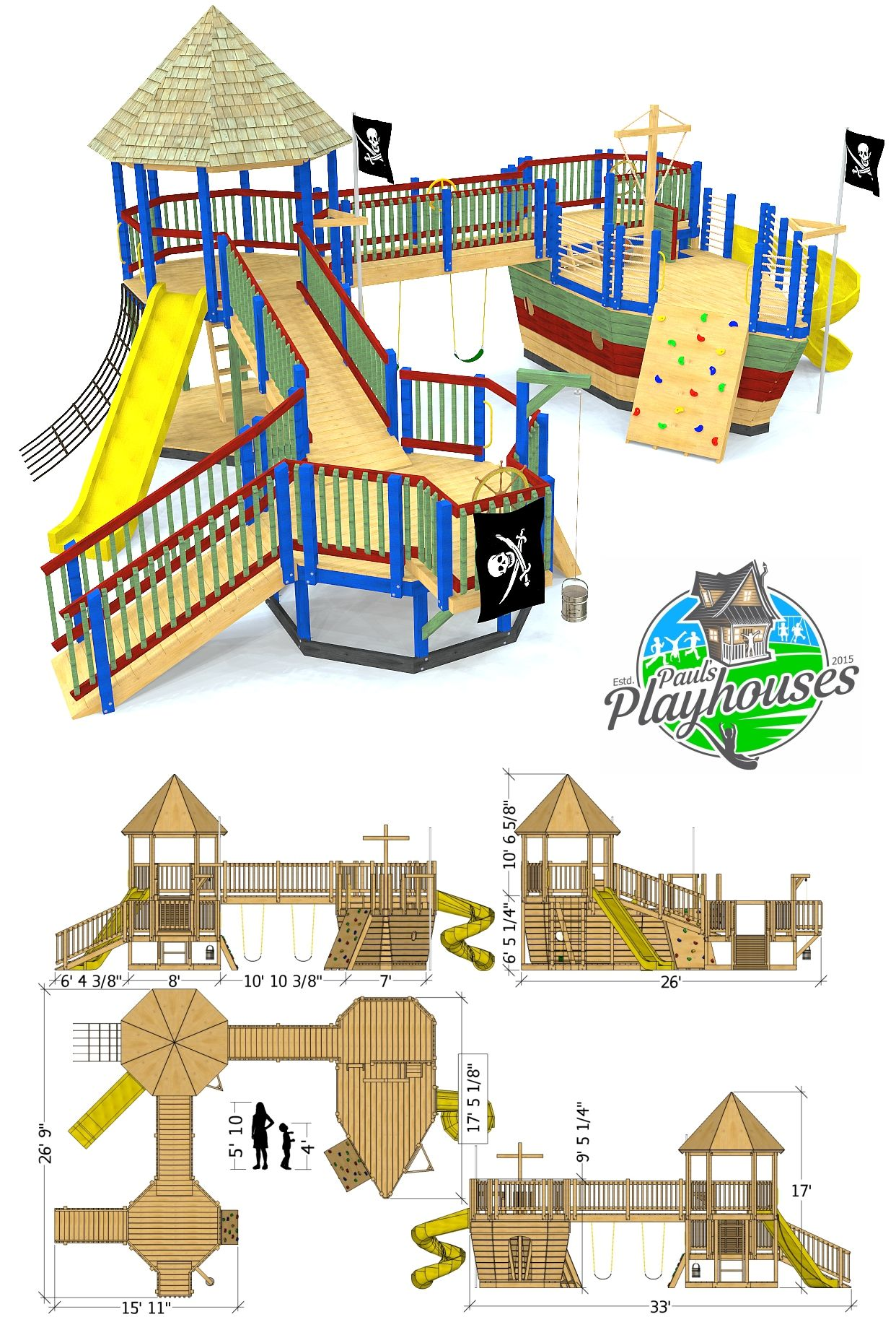 Edward Thatch Pirateship Playground Plan