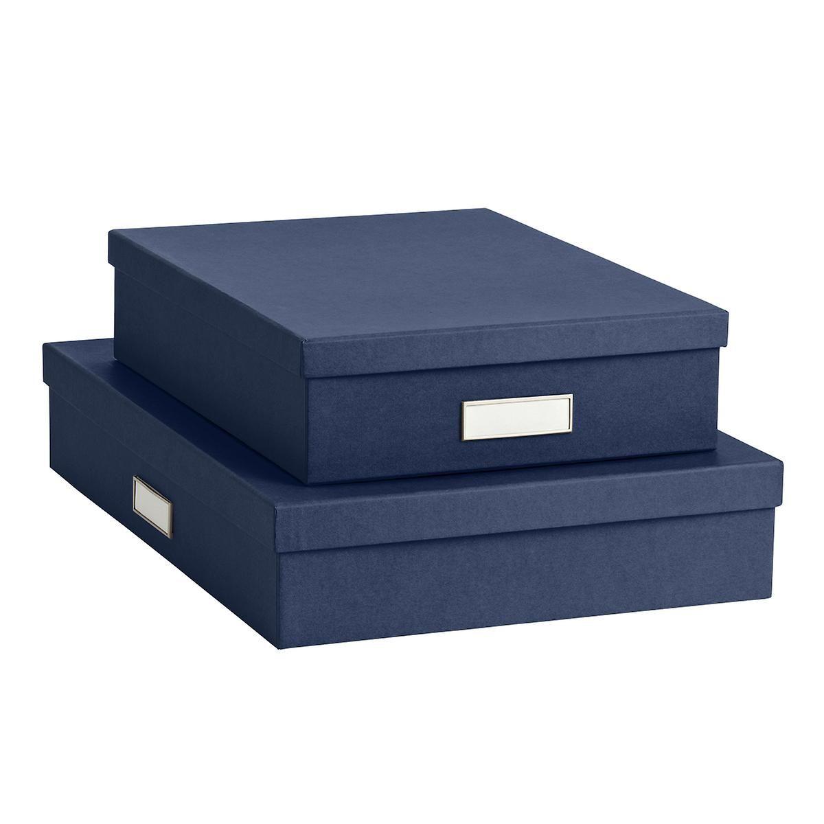 Bigso Navy Stockholm Office Storage Boxes The Container Store Storage Boxes Office Storage Metal Storage Box