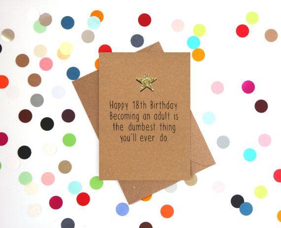 Funny 18th Birthday Card Happy 18th Birthday By Bettieconfetti