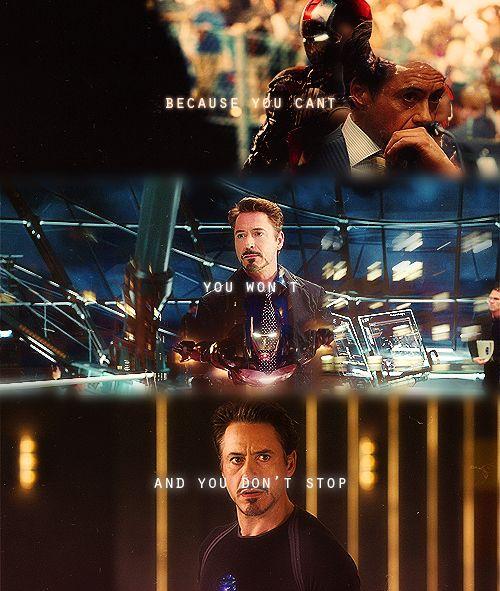 Tony Stark - a hero never stops being a hero.