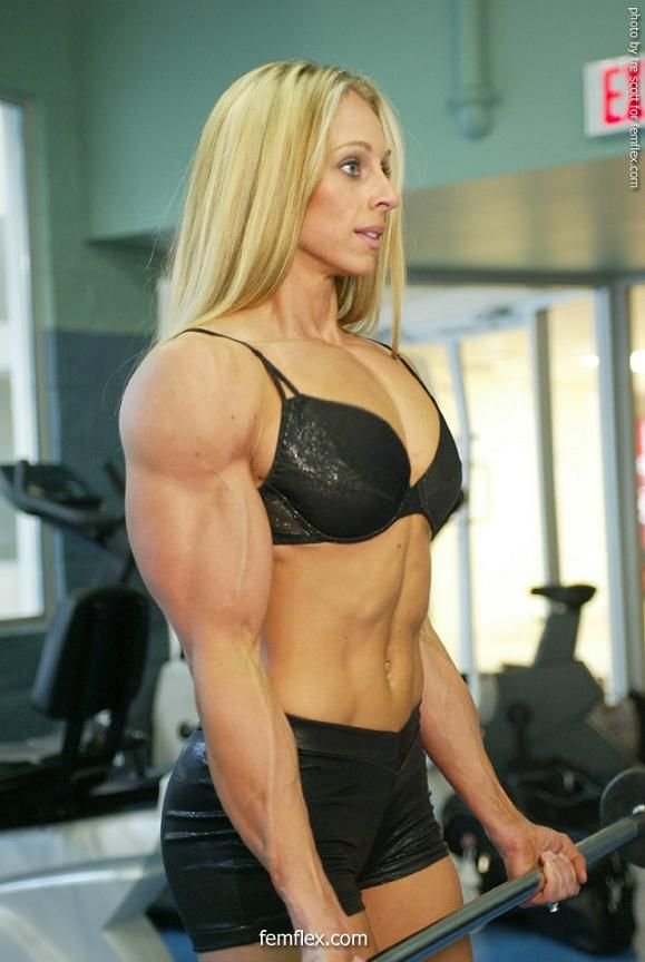Huge biceps with women
