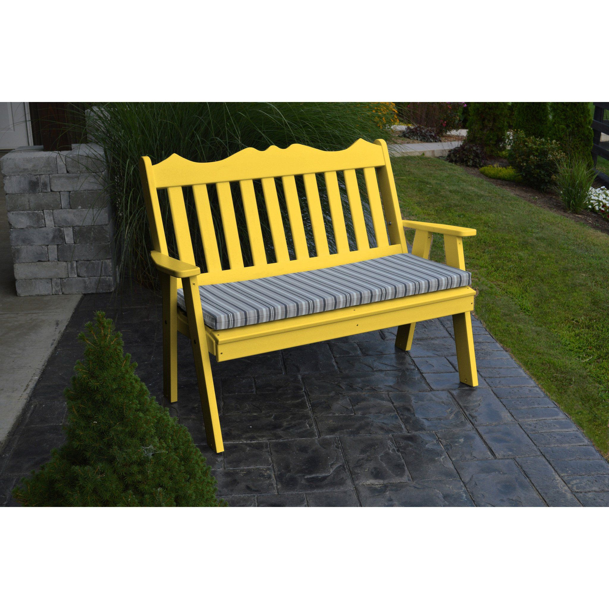 A L Furniture Company Recycled Plastic 4 Royal English Garden Bench Ships Free In 5 7 Business Days Plastic Garden Bench Outdoor Furniture Bench Gliding Chair