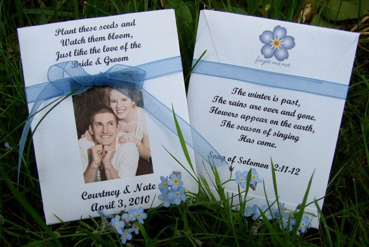 Customized Seed Packet Wedding Favors 145 Via Etsy Wedding