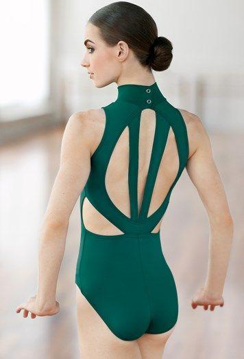 Girls Ballet Gymnastic Leotard Skating Dance Dress Mock Neck Dancewear Costume