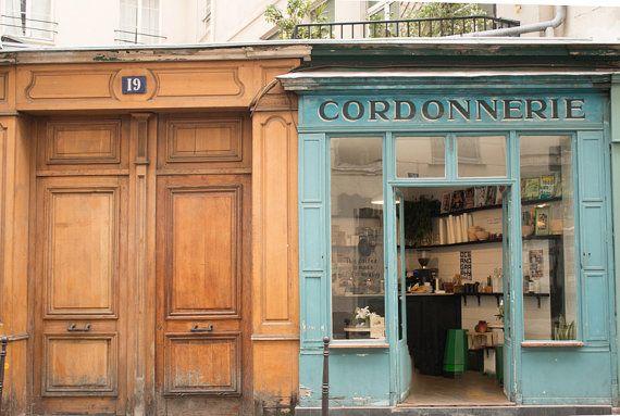 Paris Cafe in the Marais Winter in Paris Boot Cafe by rebeccaplotnick $30 photograph