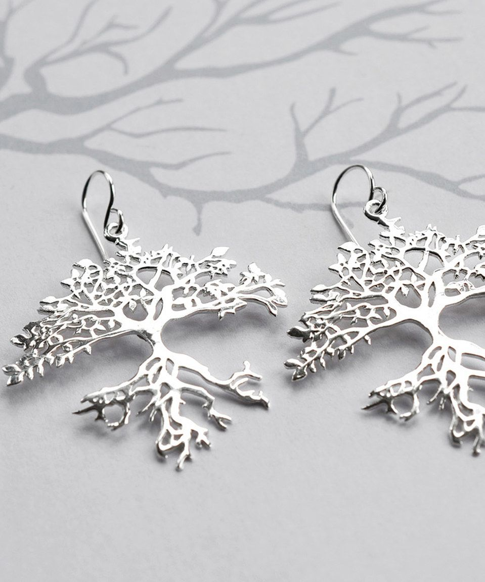 547620001 This Sterling Silver Bonsai Tree Drop Earrings by Martha Jackson is  perfect! #zulilyfinds