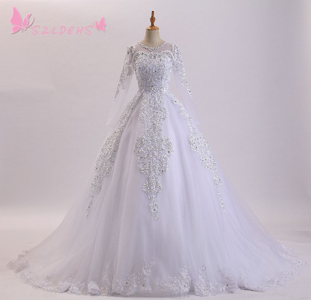 princess ball gowns arabic vintage wedding dress luxury pearls