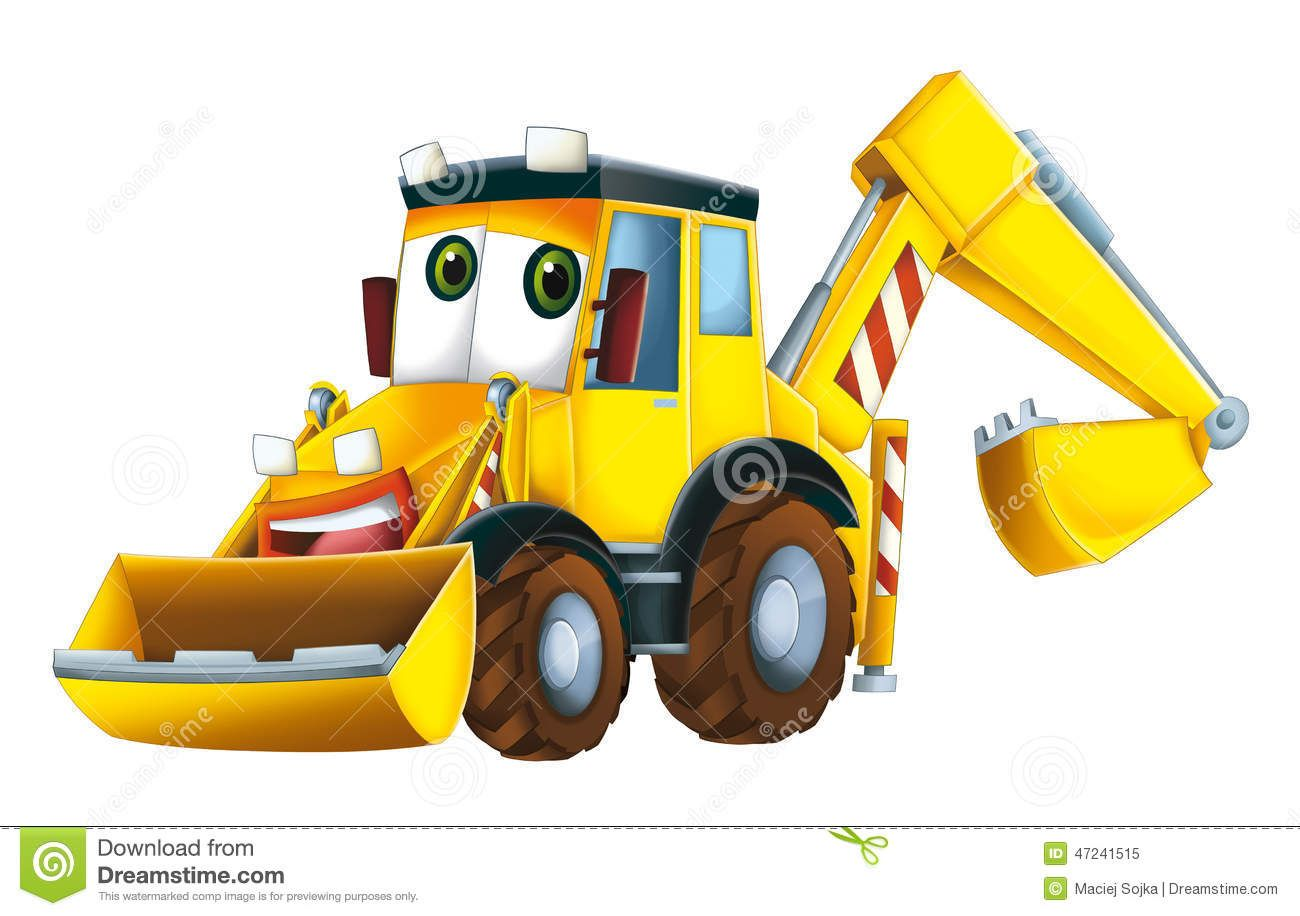 Cartoon Excavator Royalty Free Stock Photo With Images Cartoon