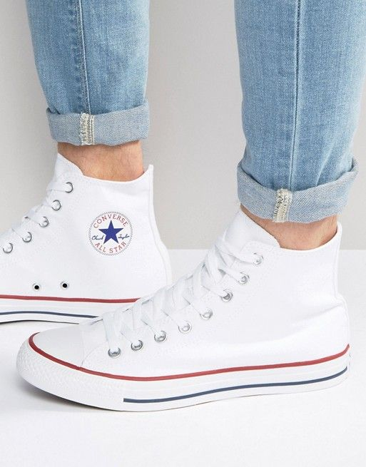 3910ca6dd Converse All Star Hi plimsolls in white m7650c in 2019