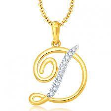d7f643666c ... Without Chain Pendants Online. alphabet pendants in gold, d alphabet  locket design, gold pendant design for alphabets,