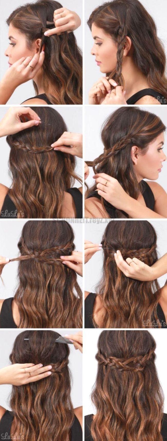 Schnelle Einfache Formale Party Frisuren Fur Lange Haar Diy Ideen 2018 Mittellange Haare Frisuren Einfach Lange Haare Coole Frisuren