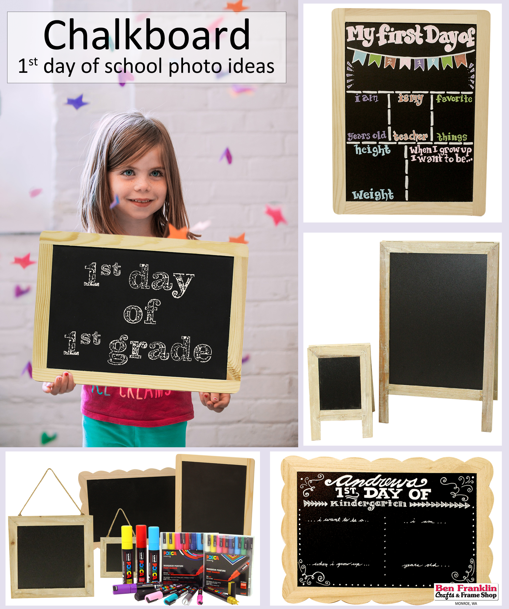 Take A Photo Of Your Child On The First Day Of School With