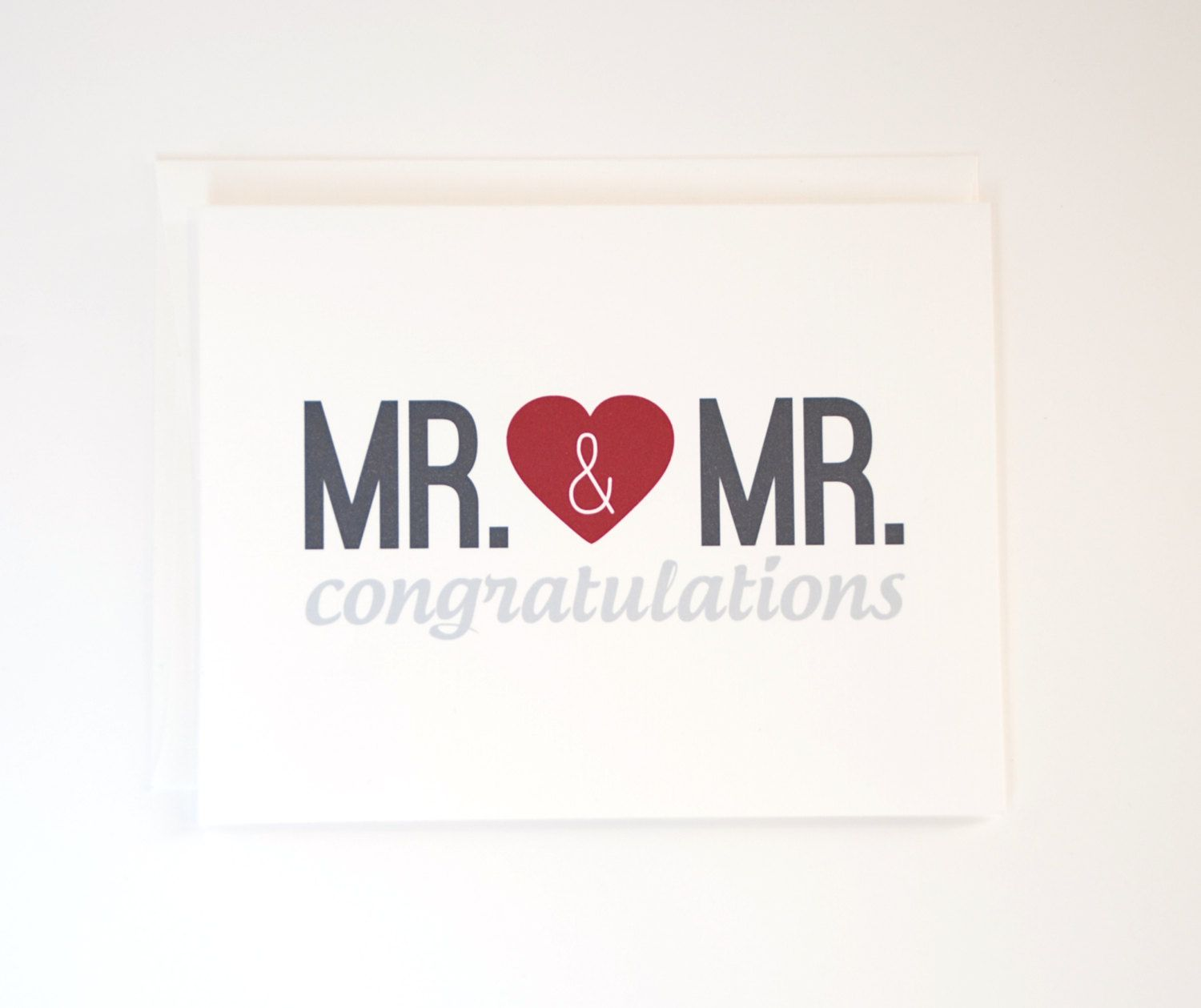 Congratulations on your wedding day Gay LGBT Mr and Mr Card