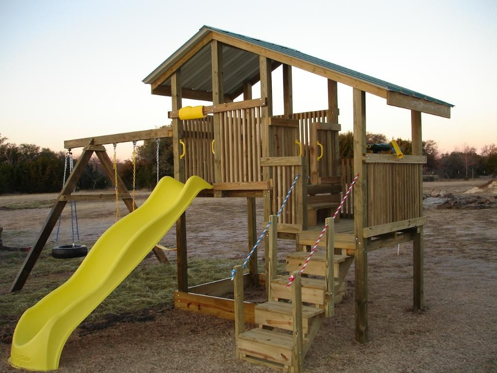 homemade playset yes please fun with the kids