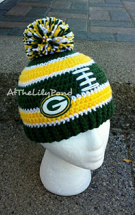 crochet green bay packers baby hat