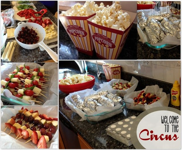 carnival circus themed food olivias birthday pinterest party