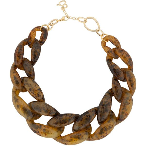 Diana Broussard Nate Large Chain Necklace In Brown 7CB22