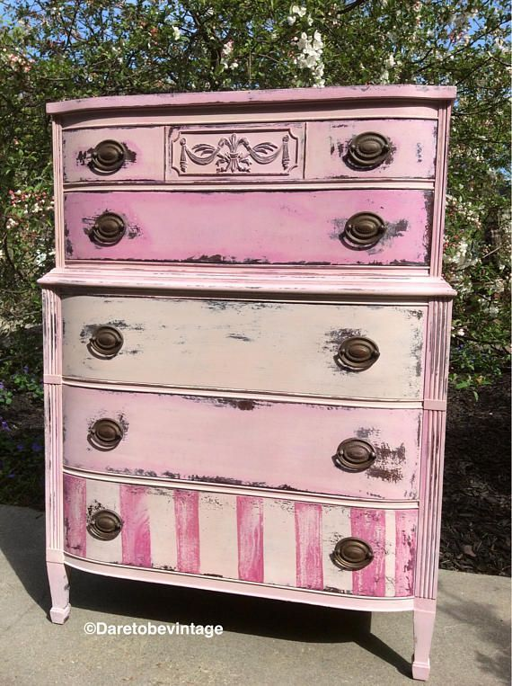 Photo of Mid-century modern  #Shabby #dresser Shabby chic pink dresser, Shabby chic pink …
